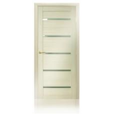 Дверь MaxDoors КЛ-7. Стекло белое.Лиственница кремовая.Орех тёмный.