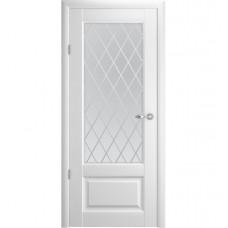 Модель Эрмитаж 1, стекло Ромб,Галерея.Цвет покрытия Белый, Орех