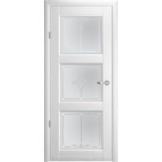 Модель Эрмитаж 3, стекло Ромб,Галерея. Цвет покрытия Белый,Орех