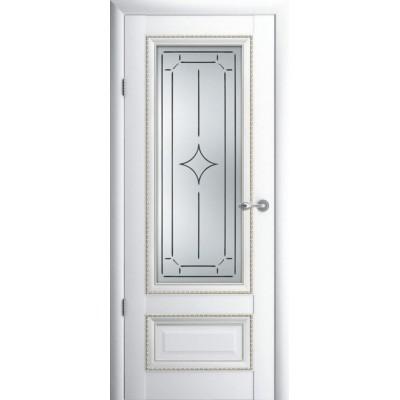 Модель  Версаль 1,Стекло Галерея,Ромб.Цвет покрытия Белый, Орех. ПВХ.