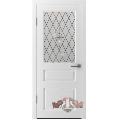 15ДР0 Честер. Белая эмаль. Остекленное полотно.Владимирская фабрика дверей. Различные размеры