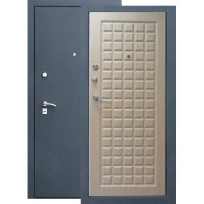 Дверь  Цитадель Троя (Черный Шелк) Шпон Бук, Тиковое дерево. (Панели влагостойкие) МК