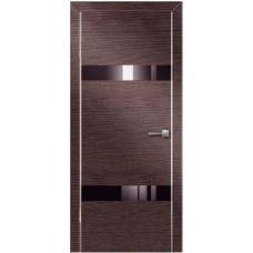 Двери Техно-1 ПВХ полотно остекленное, с алюминиевой кромкой