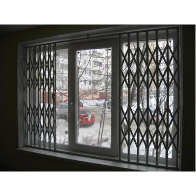 Раздвижная решетка на окно сдвиг в две стороны
