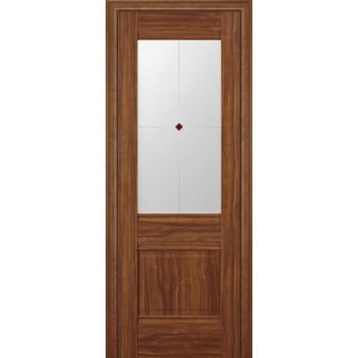 Дверь ProfilDoors Мелинга 28х Цвета: Орех Сиена,Орех Пекан. Стекло: Узор