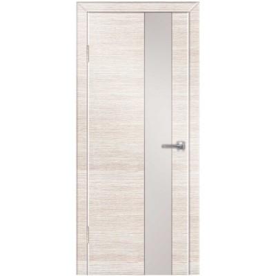 Двери Техно-4 ПВХ полотно остекленное, с алюминиевой кромкой