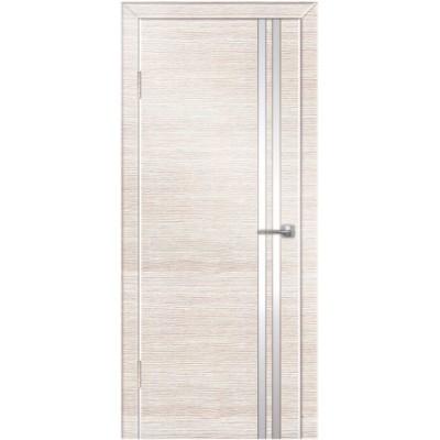 Двери Техно-7 ПВХ полотно остекленное, с алюминиевой кромкой