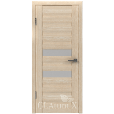 Дверь GreenLine.GLAtum X21.Капучино, Венге.Владимирская фабрика дверей.