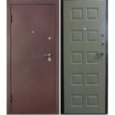Дверь Цитадель 3 Контура (Бордовый Шелк) Венге, Белёный Дуб. МК