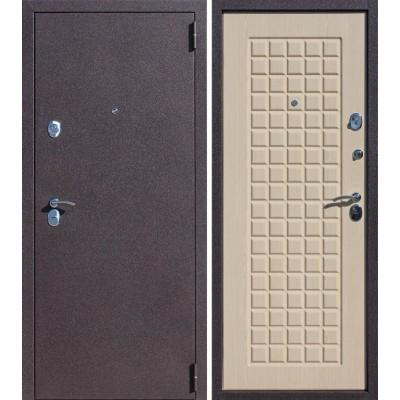Дверь Цитадель Троя 90 мм  (Бордовый Шелк).Тёмный венге, Белёный Дуб МК