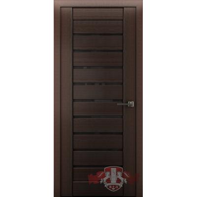 Дверь Л1ПГ4 Черное стекло.Венге.Владимирская фабрика дверей.
