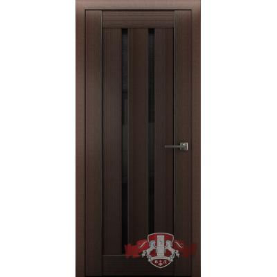 Дверь Л2ПГ4 Черное стекло.Венге.Владимирская фабрика дверей.