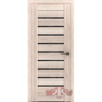 Дверь Л3ПГ1 Черное стекло.Капучино.Владимирская фабрика дверей.