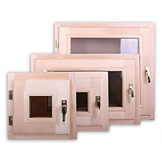 Окна для саун и бань деревянные
